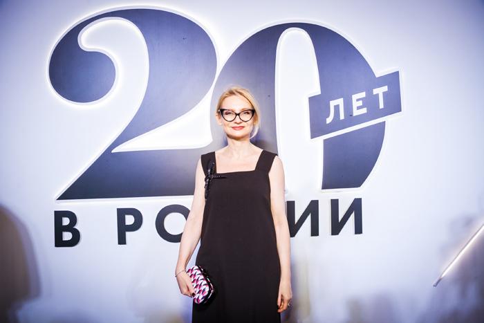 Эвелина Хромченко на 20-летии Marie Claire